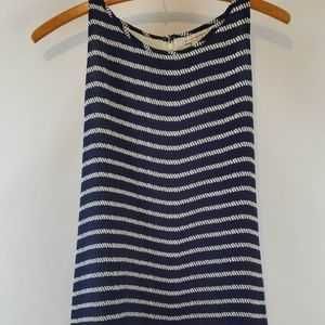 Mercer and Madison blue white top blouse sz sm